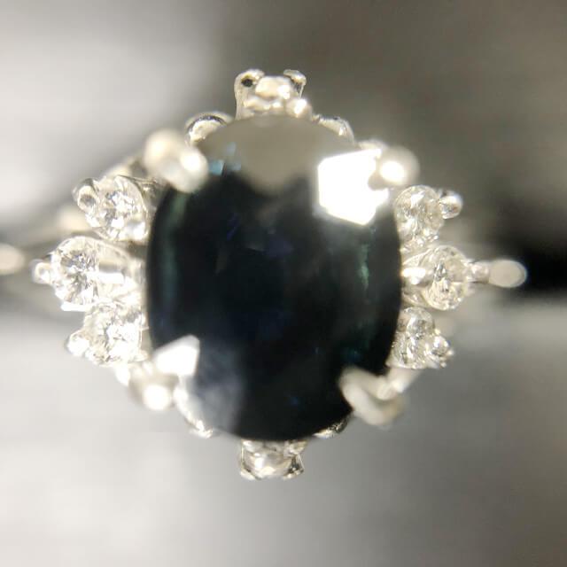 玉造のお客様からサファイア×ダイヤモンドの指輪を買取_02