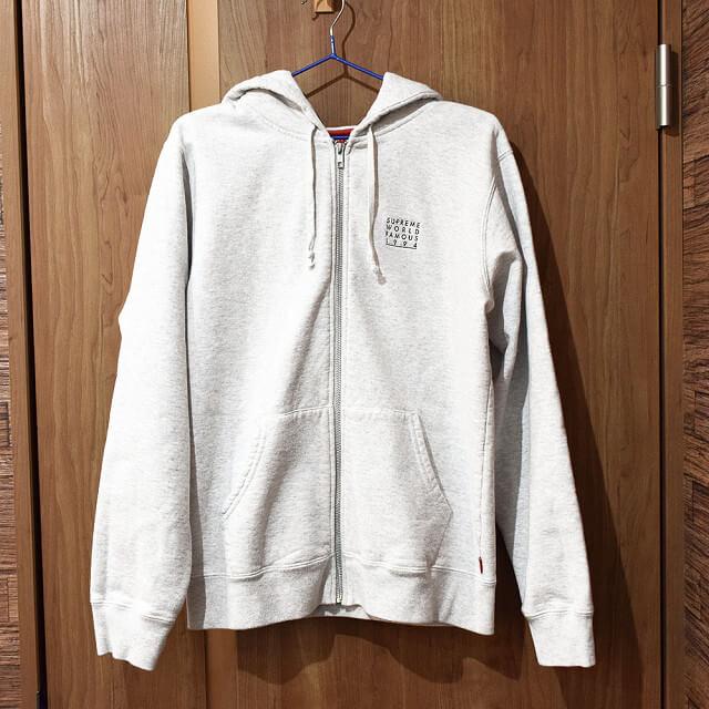堀江のお客様からSupreme(シュプリーム)のWorld Famous Zip Up Hooded Sweatshirtを買取_01