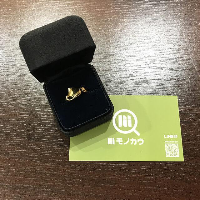 枚方店にてティファニーのK18金ハートリングを買取_01