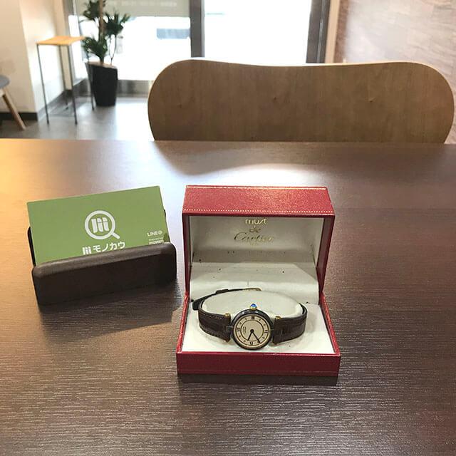 住吉のお客様からカルティエの腕時計【マストヴェルメイユ】を買取_01