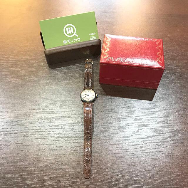 住吉のお客様からカルティエの腕時計【マストヴェルメイユ】を買取_02