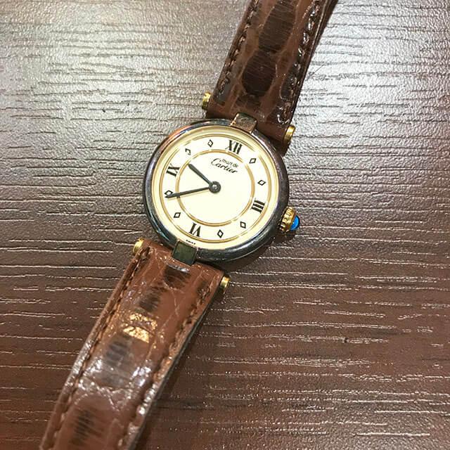 住吉のお客様からカルティエの腕時計【マストヴェルメイユ】を買取_03