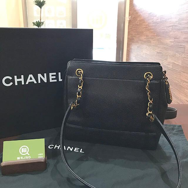 我孫子のお客様からシャネルのチェーンショルダーバッグを買取_01