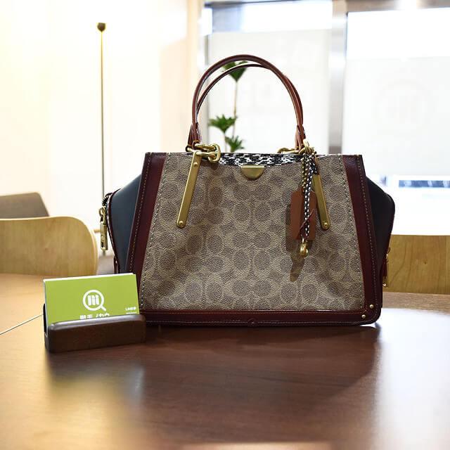 京橋のお客様からコーチの【ドリーマーシグネチャー】バッグを買取_01