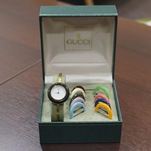 奈良のお客様からグッチの腕時計【チェンジベゼルウォッチ】を買取_02