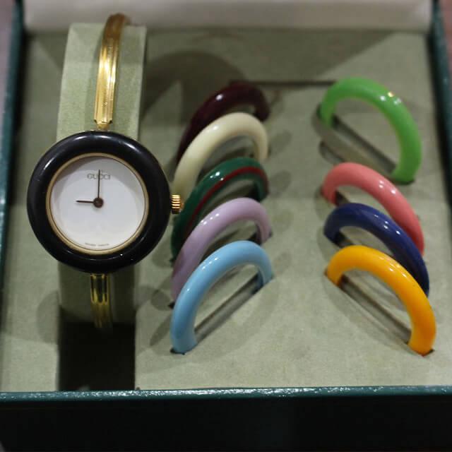 奈良のお客様からグッチの腕時計【チェンジベゼルウォッチ】を買取_03