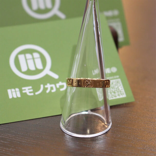 奈良のお客様からピンクゴールドのグッチのアイコンリングを買取_01