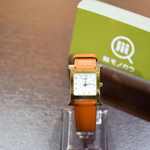 都島のお客様からエルメスの腕時計【Hウォッチ】を買取_01