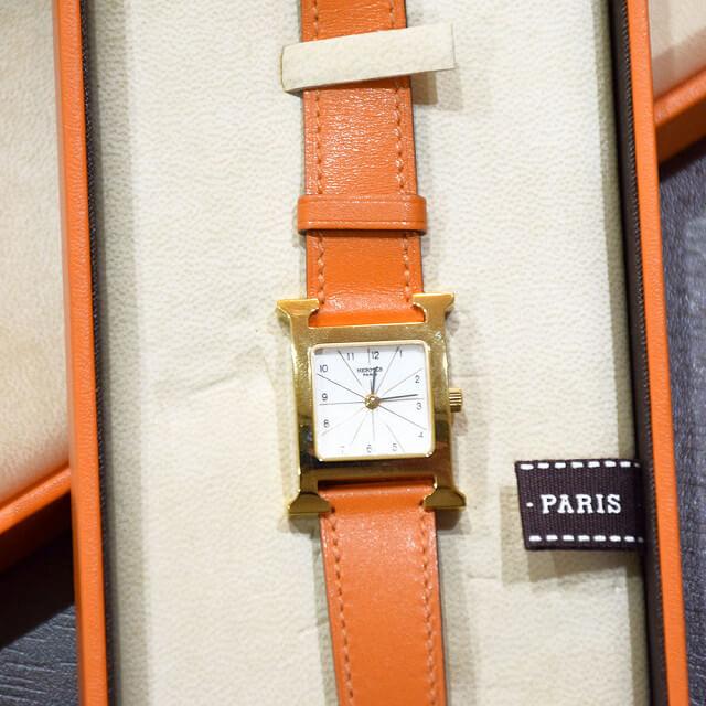 都島のお客様からエルメスの腕時計【Hウォッチ】を買取_02