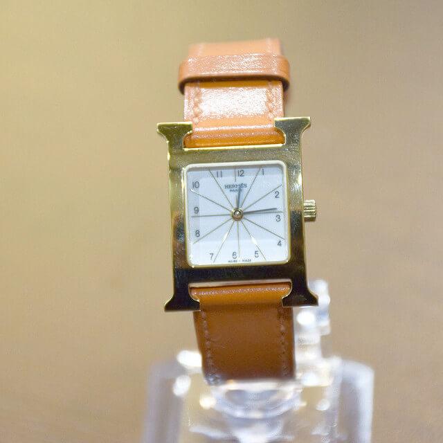 都島のお客様からエルメスの腕時計【Hウォッチ】を買取_03