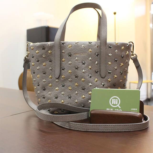 東大阪のお客様からジミーチュウの【ミニサラ】2wayバッグを買取_01