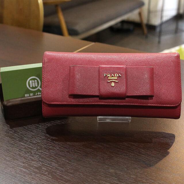 鶴橋のお客様からプラダの長財布【フィオッコ】を買取_01
