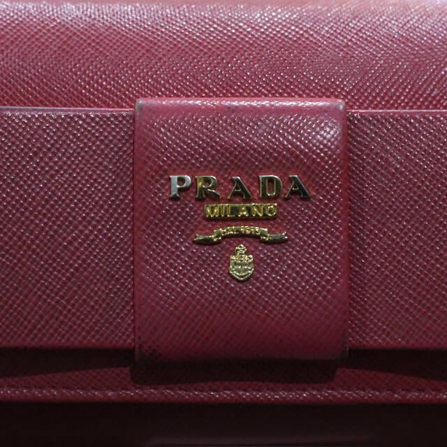 鶴橋のお客様からプラダの長財布【フィオッコ】を買取_04