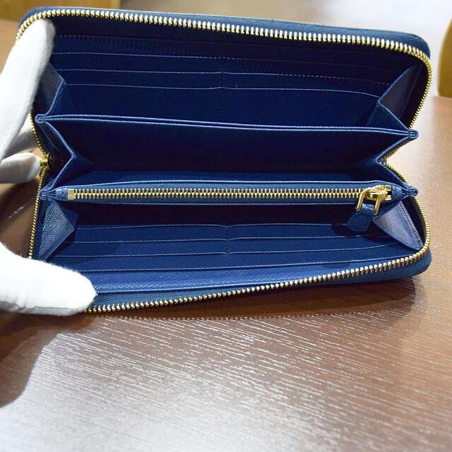 奈良のお客様からプラダのサフィアーノ【ラウンドファスナー】長財布を買取_03