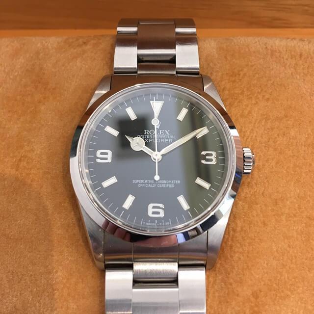 大阪梅田のお客様からロレックスの腕時計【エクスプローラー1】を買取_01