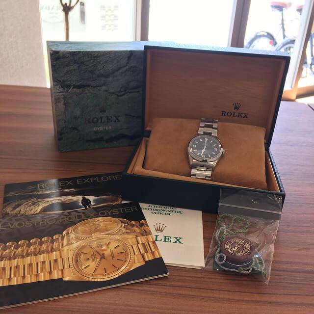大阪梅田のお客様からロレックスの腕時計【エクスプローラー1】を買取_02