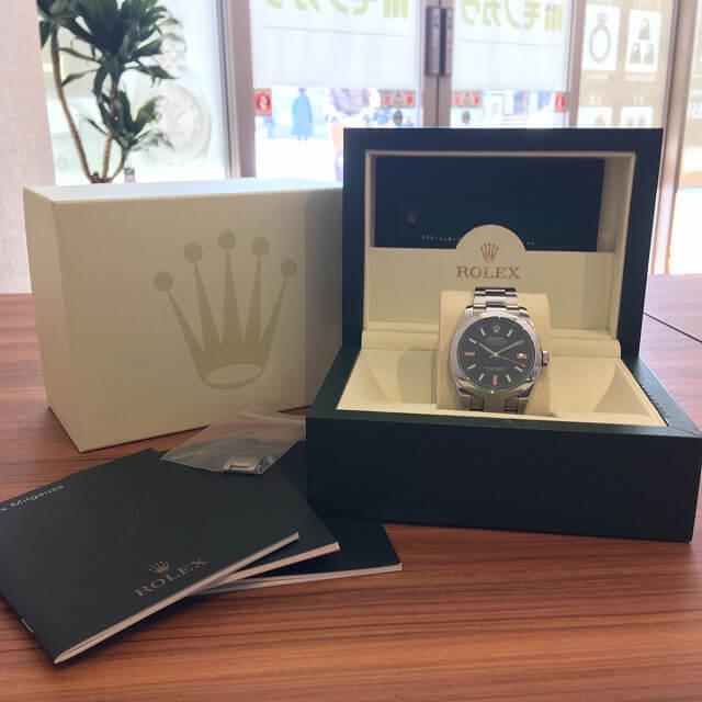 大阪梅田のお客様からロレックスの腕時計【ミルガウス】を買取_02