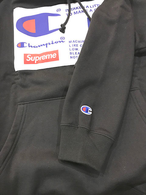 羽村市のお客様から18aw Supreme Champion Label Hooded Sweatshirtを買取_04