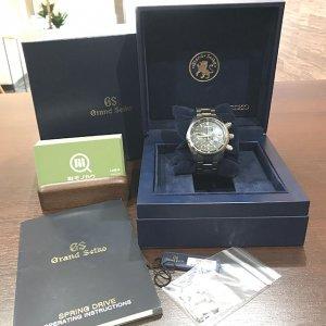 谷町六丁目のお客様からグランドセイコーの腕時計【スプリングドライブ クロノ】を買取