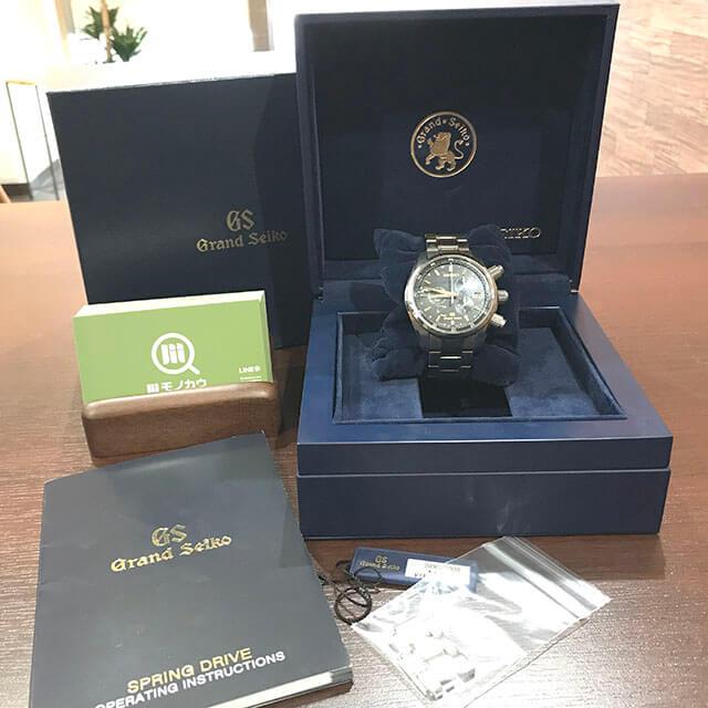 谷町六丁目のお客様からグランドセイコーの腕時計【スプリングドライブ クロノ】を買取_01