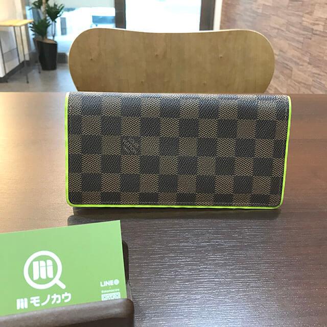 難波(なんば)のお客様からヴィトンの長財布【ポルトフォイユ・ブラザ】を買取_01