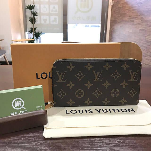 桃谷のお客様からヴィトンのモノグラムの長財布【ジッピーウォレット】を買取_01