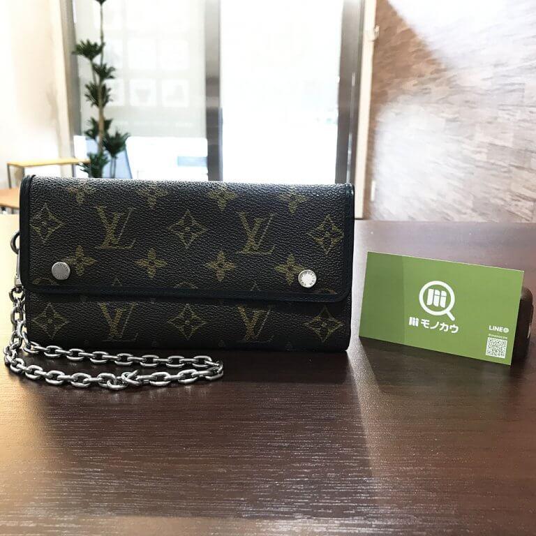 生野のお客様からヴィトンのモノグラムマカサーのメンズ長財布を買取_01
