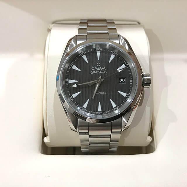 高砂のお客様からオメガの腕時計【シーマスター アクアテラ】を買取_01
