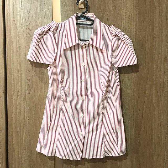 高崎のお客様からプラダのストライプシャツを買取_01