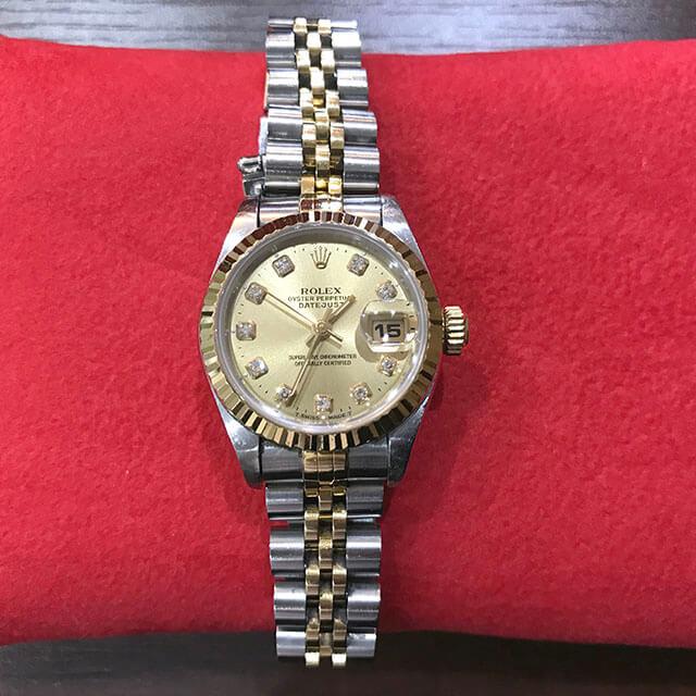 高井田のお客様からロレックスのレディース腕時計【デイトジャスト】を買取_01