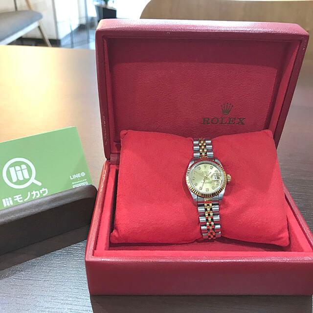 高井田のお客様からロレックスのレディース腕時計【デイトジャスト】を買取_02