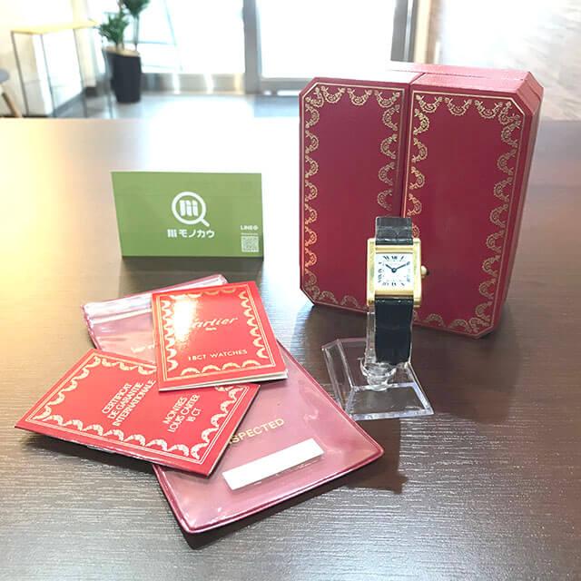 銀座のお客様からカルティエの腕時計【タンクソロ】を買取_01