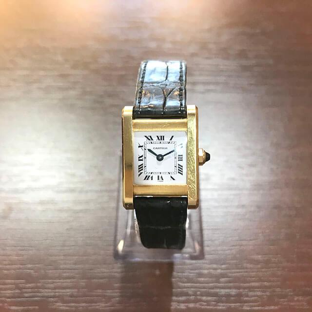 銀座のお客様からカルティエの腕時計【タンクソロ】を買取_02