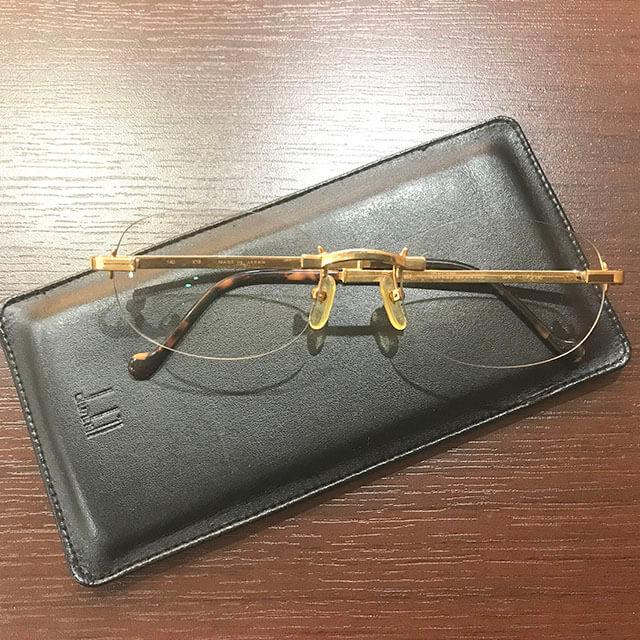 モノカウ北見店にてダンヒルの金無垢の眼鏡を買取_04