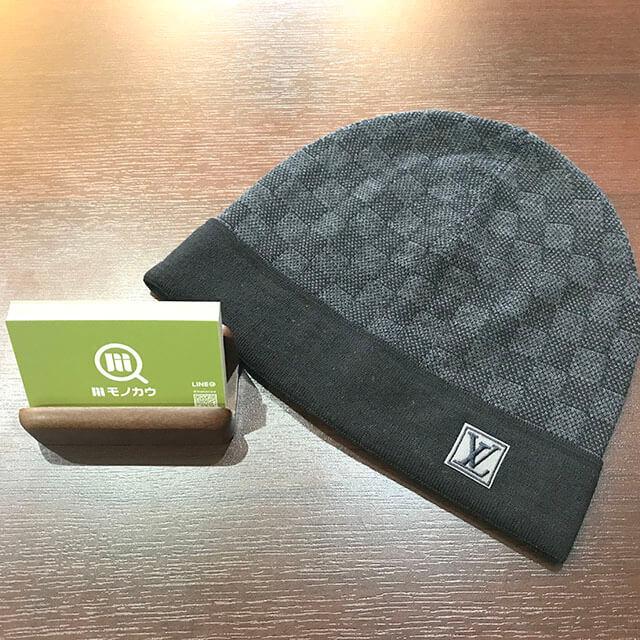 難波のお客様からヴィトンのダミエの帽子を買取_01
