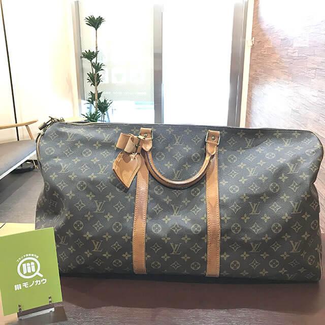 放出のお客様からヴィトンのボストンバッグ【キーポル60バンドリエール】を買取_01