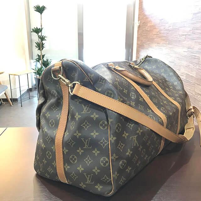 放出のお客様からヴィトンのボストンバッグ【キーポル60バンドリエール】を買取_03
