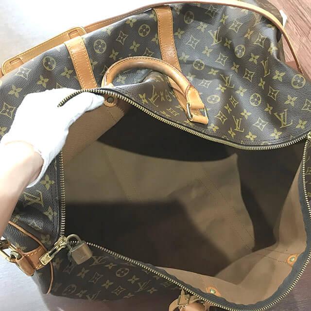 放出のお客様からヴィトンのボストンバッグ【キーポル60バンドリエール】を買取_04