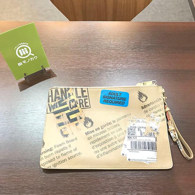 堺のお客様からモスキーノのクラッチバッグを買取_02