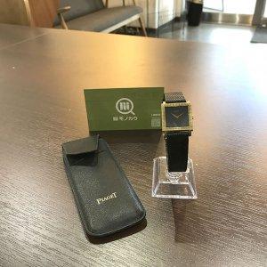 銀座のお客様からピアジェの金無垢の腕時計を買取
