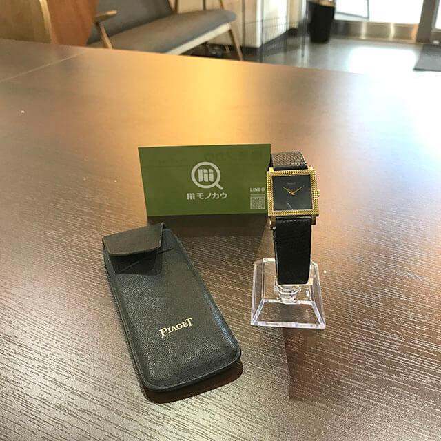 銀座のお客様からピアジェの金無垢の腕時計を買取_01