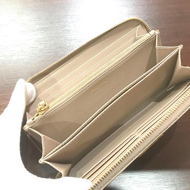 天王寺のお客様からプラダのサフィアーノの長財布を買取_04