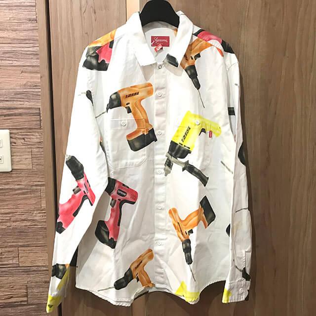 松原のお客様からシュプリームのDrills Work Shirtを買取_01