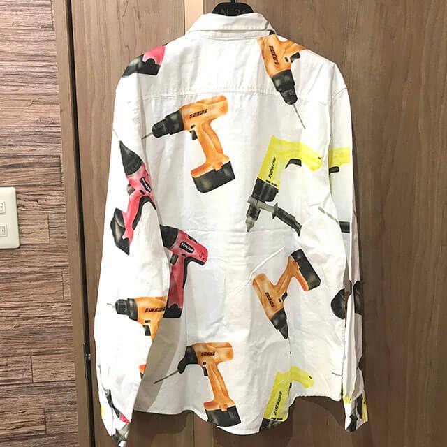 松原のお客様からシュプリームのDrills Work Shirtを買取_02