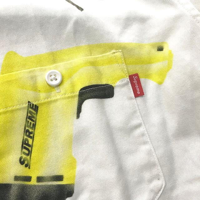 松原のお客様からシュプリームのDrills Work Shirtを買取_04