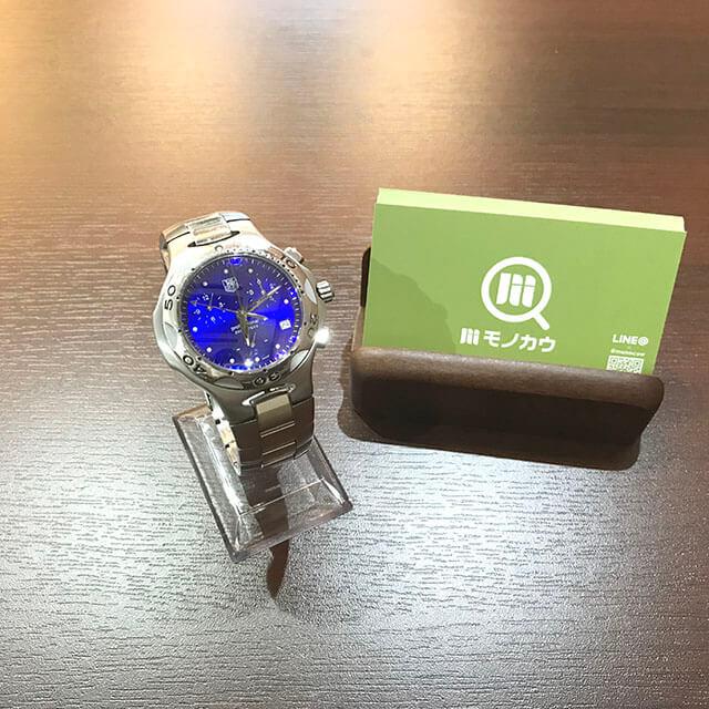 大月市のお客様からタグホイヤーの腕時計【キリウム クロノグラフ】を買取_01
