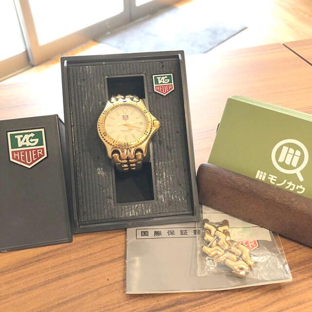 京橋のお客様からタグホイヤーの腕時計【セル】を買取_01