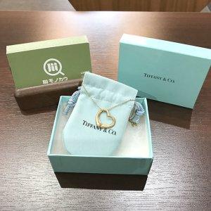 京橋のお客様からティファニーの【オープンハート】ネックレスを買取