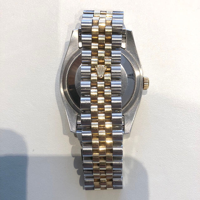難波のお客様からロレックスの腕時計【デイトジャストコンビ】を買取_03
