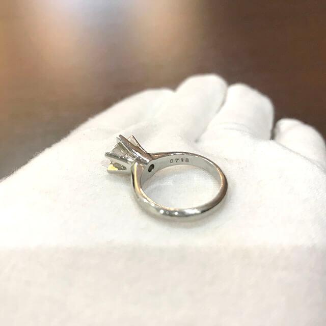 天王寺のお客様から0.7ctのダイヤモンドの指輪を買取_02